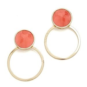 KATE SPADE~sun kissed sparkle hoops~EARRINGS~GOLD